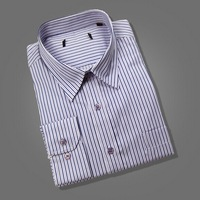 men's dress Long sleeve brand casual high cotton dudalina social camisa xadrez shirts Striped slim fit masculina business shirt