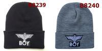 Free Shipping 2014 newest cheap BOY LONDON with Eagle Beanie Black Men Women hip hop new arrival hot sale wholesale B8239