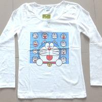 2014 Autumn Winter New Design 100% Cotton Women Fashion Long Sleeve Women's T Shirt Printed Regular Show Cartoon T-Shirts