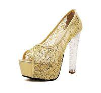 Sexy open toe 14CM high heels women sandal with mesh cloth vamp EU size 34-39