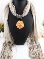 2014 factory direct sale tassel scarf fashion beautiful jewelry pendant scarf