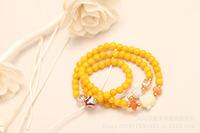 Beeswax Bracelet. Thailand natural beeswax beads bracelet.Buddha head drilling Bracelet natural crystal fashion bracelet