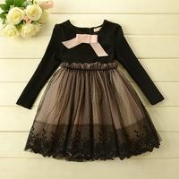 New winter and Autumn Children Boutique dress girls Korean fashion princess long sleeves tutu dress girls party dress 5pcs/lot