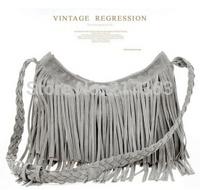 New 2014 women handbag Retro Tassel Stripe Fringe Shoulder women messenger bags Handbag Cross Body Satchel Bag ak093
