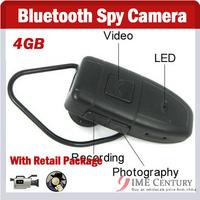 Bluetooth Headset Hidden Camera 4GB,Bluetooth Spy Camera, HD Resolution Camera Video Recorder BH-906