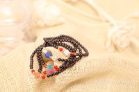 Natural Obsidian bracelet. Cross Bracelet beads. Shambhala Ball Bracelet national style bracelet.