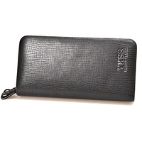 Fashion new leather men's long wallet with top quality big capacity brown/black clutch bag for business handbag-5