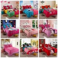 T60 styles Promotion Free Shipping  2014 New Arrival  V cotton bedding set 4pcs/3pcs duvet cover  sheet  pillowcase bed setting