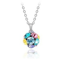 10pcs/lot Free shipping&nice gift&crystal necklace/pendant/heart/IIDHA1035