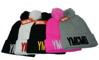 Free Shipping 2014 newest cheap YMCMB Pom Pom BEANIE Grey Men Women hip hop new arrival hot sale wholesale B6529