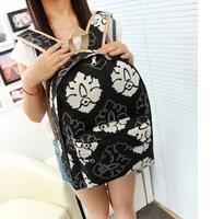 second kill 2014 new homecoming season canvas school bag for teenager hot sale fashion korea style school backpack