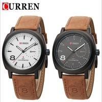 CURREN Brand Men Wristwatches Genuine leather Strap Clocks MILITARY STYLE Quartz Watches