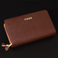 New arrival leather mens clutch wallet top quality men purse,big capacity brown/black leather clutch bag-5