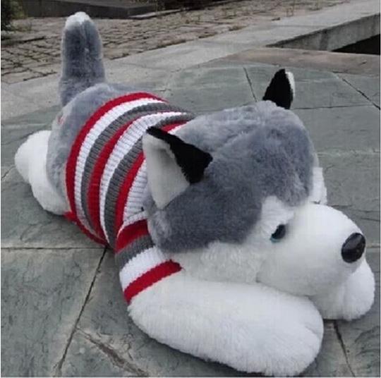 40cm stuffed plush dog, cute husky plush toys(China (Mainland))