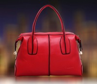 2014 Boston stylish upscale portable motorcycle leather handbag shoulder bag diagonal trend personality