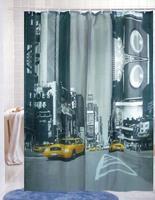 Fashion terylene shower curtain street waterproof bathroom curtain