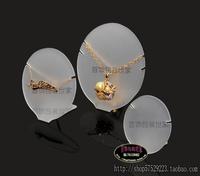 Free Shipping Jewelry necklace display rack set decoration acrylic pendant display rack oval pendant display set