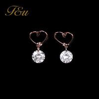 2014 new pierced earrings Crystal Stud Earring Brand Geometric Gold Plated Stud Earrings Men Dress Free Shipping#922