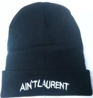 AIN'T laurent  Beanies Autumn Winter Wool Knitted Men Women Caps Casual Skullies Hip-hop