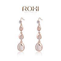 ROXI 2014 Earrings For Women gold Drop Earrings Fashion Crystal Brincos Jewelry Gift 350 Free Shipping