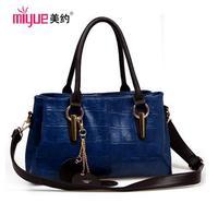 Free shipping new arrival 2014 women messenger bag emboss shoulder bag crocodile pattern fashion handbag cross-body large bags