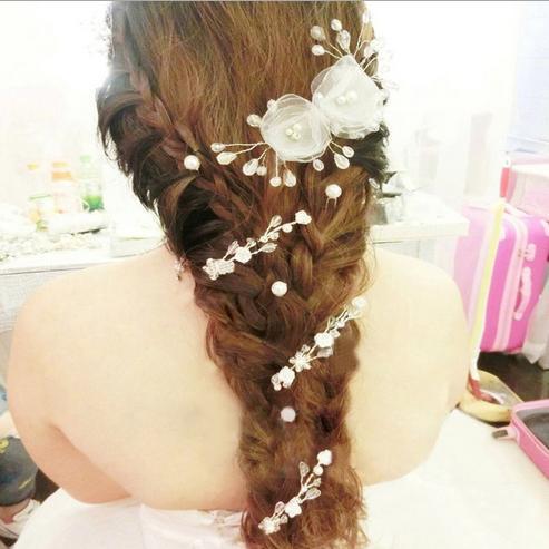 Wedding Bridal Crystal Hair Pins Flower Crystal Hair Clips Bridesmaid Jewelry SF523(China (Mainland))