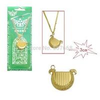 10pcs/lot Anime Game The Legend of Zelda Harp Matel Necklace Pendant