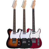 High quelity black red sun TL electric guitar 21f musical instrument free shipping