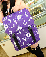 NEW Arrival Leisure Schoolbag Fashion Music Character High Quality Women's Candy Color Backpack Free Shipping