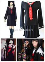 High Quality Jigoku Shoujo Mioyosuka Hell Girl Enma ai Sailor Cosplay Dress School Uniform Dress Gift