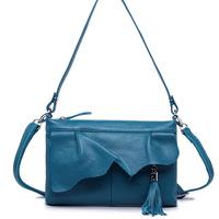2014 Women's Genuine Leather Shoulder Bag Bolsa Termica Designer Tassel Cross-body Bag Handbag For Women's Messenger Bags