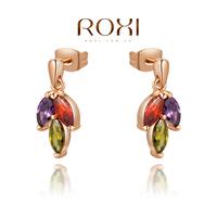 ROXI 2014 Earrings For Women gold Drop Earrings Fashion Crystal Brincos Jewelry Gift 465 Free Shipping