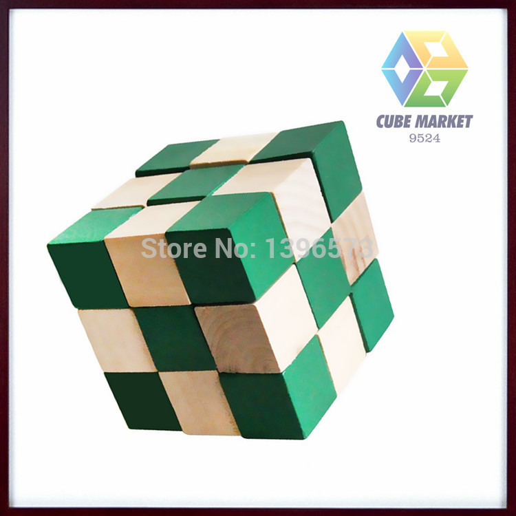 Free Shipping Christmas Gift,Wooden Snake Cube/Puzzle,Educational Toy,Brain Teaser,Wooden KongMing Lock CM-CT0063(China (Mainland))