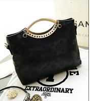 NEW 2014 embossed floral print big bag women handbag hand carry a shoulder bag ladies fashion handbag messenger bag