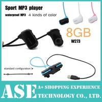 8GB W273 Sport MP3 wireless headset mp3 player W273S Walkman Running mp3 high High quality stereo drop shipping