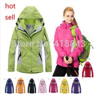 nova chegada 2 em 1 mulheres quentes esportes ao ar livre jaqueta  terno com escalada reflexivo casaco Waterproof and breathable