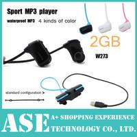 New Sports Mp3 player w273 2GB Wireless Sweat-band Walkman Running earphone Mp3 player headset headphone free shipping- In Stock