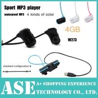Free Shipping W273 Sports Mp3 player for sony headset 4GB NWZ-W273 Walkman Running earphone Mp3 player headphone