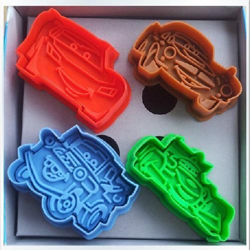 4 pçs/set carros-plex Biscuit sugarcraft Arts definir Fondant bolo de cortadores de biscoito ferramentas molde grátis frete(China (Mainland))