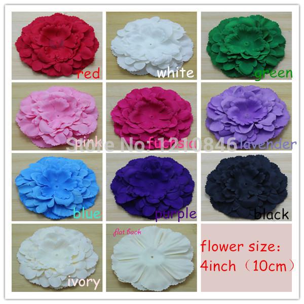 Ordem trail design peônia flor de tecido de seda aderência da flor para o bebê roupas das meninas / cap / cabelo ou headband acessórios 30 pçs/lote(China (Mainland))