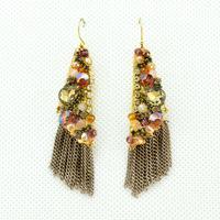 2014 New Fashion Handmade Bohemia Luxury Punk Tassel Earrings Ladies Sexy Earrings for Women Jewelry