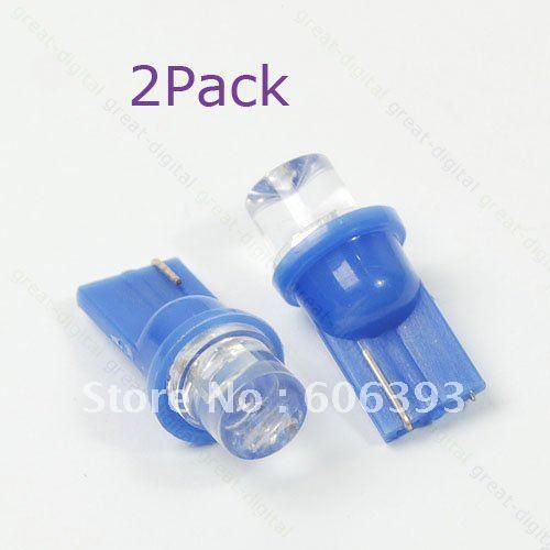 Free Shipping 2X SMD LED T10 Wedge 194 168 Car Plate Bulb Light Blue(China (Mainland))
