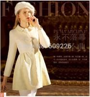 autumn and winter women slim wool coat woolen outerwear