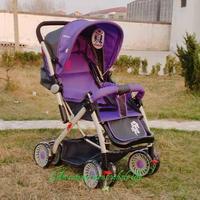 Stroller baby boy lying stroller can take a two-way portable folding trolley car buggy BB