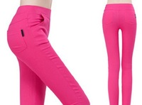 2014 Sexy Candy Color Pencil Pants/Casual pants/Skinny Pants With Cotton Summer Trousers Fit Lady jeans