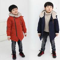 Free shipping 2014 New kids boy winter wadded coat jacket cotton padded jacket children winter coat boy winter outerwear