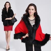 2014 Loose Fox Fur Luxurious Shawl Coat Women Fur Coat Fur Warm Winter Coat