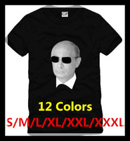 S-3XL (12Colors) Free Shipping Hot Selling couples commemorate Casual Cotton Russian President Vladimir Putin T-shirts 140816#2