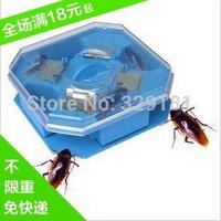 1pcs/lot Reusable Non-Toxic Eco Cockroach Bug Roach Motel Catcher Catch Insect Pest Killer Bait Trap Traps Free Shipping