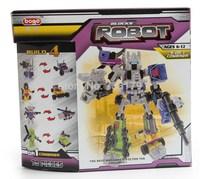 Color Box Packing 4 in 1 Combiner Various Transformation Robots Cars Building Blocks Minifigure DIY Bricks Toys